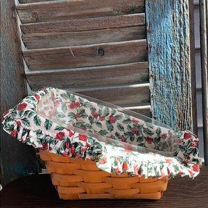 Longaberger Small Vegetable Basket liner protector